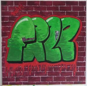 Ein Graffiti aus der Kunstprojektwoche Jahrgang 7