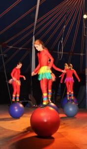 Die Zirkusklasse 6 bei der Aufführung