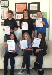 Diese SchülerInnen haben dieses Jahr den Sozialpreis erhalten.